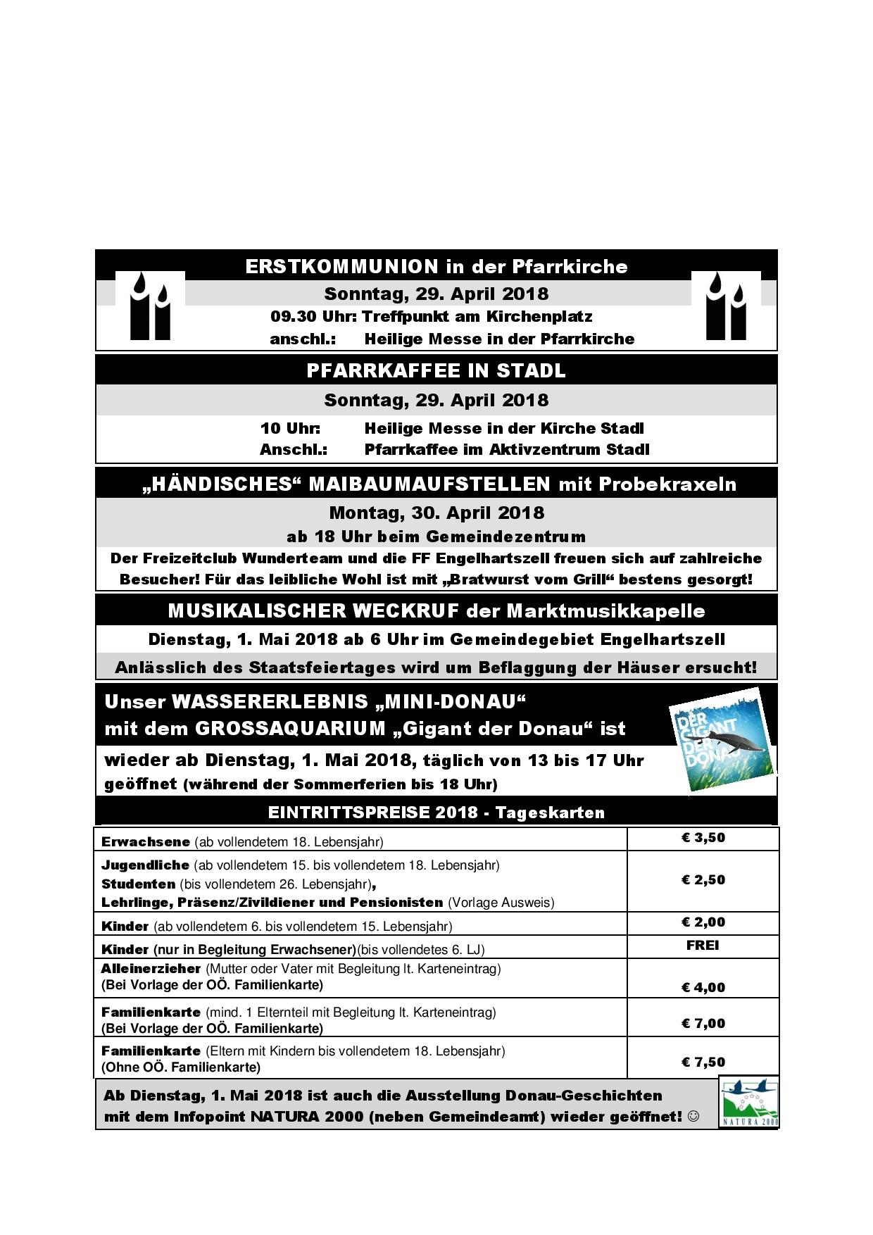 Informationsdienst-14-2018 - Engelhartszell - Homepage